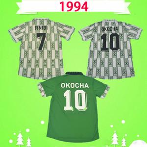 Nigeria  Copa del mundo 1994 Retro Soccer Jersey Starboy camiseta de fútbol clásico 94 Okecha Yekini Amokachi 94 uniformes vintage hogar verde camisa Maillot football shirt
