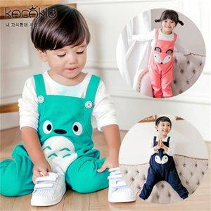 Kacakid Unisex Bebé en general Lindo Fox Pattern Pattern Baby Mamper Monos Overly Animal Pattern Boy Chica Bebé en general KA3116 Y200704