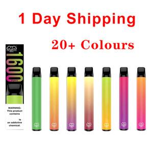 Puff XXL 1600 poğaçalar Tek Cihaz Ön Dolgulu Vape Kalem 20+ Renkler Elektronik Sigaralar 1000 mAh Pil