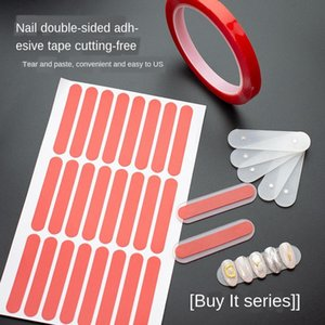 False Nails Tips Magnetic Display Show Stand Holder Double-sided Tape Rectangle Protective Film Nail Display for Gel Glitter