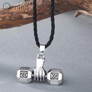 Anhänger Halsketten Sport Fitness Halskette Gewichtheben Glück Hantel Für Männer Schmuck Gewichtheben Charme Vintage Frauen1