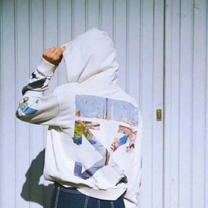 Ok fermuar hoodie kat çiftler akış Hoodie sweater5F9FMPBH duvar yazılarının bir yağ kapalı 2020ss hip hop