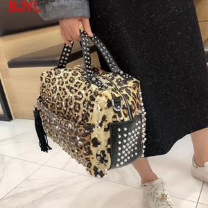 Luxus Mode Rivet Strass Frauen Handtasche Neue Damen Diamant Tasche Frauen Schulter Messenger Bag Weibliche Leopard Drucktaschen C0121