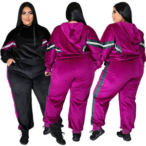 womens two piece set tracksuit plus size outfits long sleeve sportswear shirt trousers sweatsuit pullover tights sportswear hot klw5276
