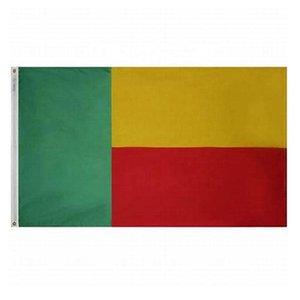 Bandera de alta calidad de Benin 3x5 FT 90x150cm Banderas del partido del festival regalo 100D poliéster de interior al aire libre impresos Banderas Banderas