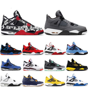 Basketball Jumpman Iv 4 Shoes 4s Men Mens Trainers Royalty Pure Money Sports Sneakers Travis Stylist Sneakers Flight Trainers with l