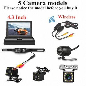 4.3 inch HD Foldable Car Rear View Monitor Reversing LCD TFT Display with Night Vision Backup Rearview Camera for Vehicle QZUj#