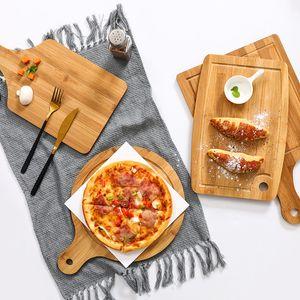 20 stücke Bambus Hackblöcke nicht Holz Home Schneidebrett Kuchen Sushi Platte Servierschalen Brotschale Obst Platte Sushi Tray Steak 445 N2