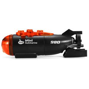 Mini Micro-Radio Remote Submarine RC Nave Barca Con regalo giocattolo chiaro Led