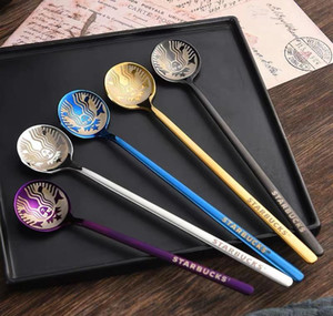 The Latest 15x3.3cm Stainless Steel Starbucks Spoon, Many Colors, Starbucks Goddess Style S jllyiP yummy_shop