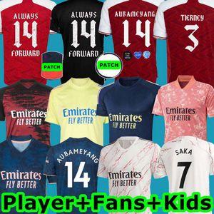 Arsen camiseta de fútbol 2021 SAKA PEPE NICOLAS CEBALLOS GUENDOUZI TIERNEY 20 21 Inicio Camisa ausente de Tercera Gunner antes del partido de fútbol kit Niños Hombres