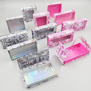 Mink cílios Box dólares americanos pestana embalagens vazias Lash Caso pestana Box sem cílios dinheiro embalagem Lash Boxes