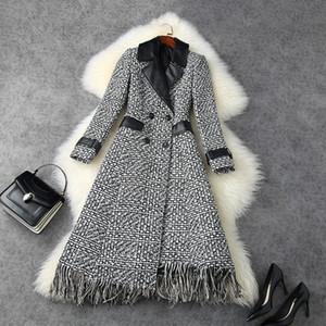 2020 осень зима с длинным рукавом, зубчатый отворотный серый Tweed Tweed Tweed Tweed Tweed Tweed Tweed Tweed Twed Twed Twed Twed Twed Twed Twed Tweed Tweed Twed Twed Twed Twead Coats Coats Coats LO29T11487