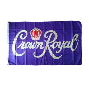 Crown Royal Flags 3x5 FT alta qualità Banner per la decorazione regalo doppia cucitura Interni Esterni poliestere Pubblicità