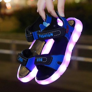 Summer Toddler Kids Sport Boys Girls Baby Sandals LED Luminous Shoes Sneakers Casual Comfortable Led shoes