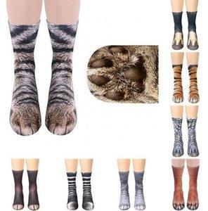 عالية الجودة مصمم الجوارب 3d المطبوعة الحيوان القدم الحافر للجنسين الكبار الحيوان الرجال النساء جوارب القطن سعيد الجوارب المطبوعة القط جورب الكبار