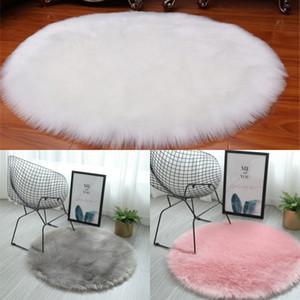 Pure Cor Circular Tapete Imitação de Lã Lã Sala de Livro Quarto Tapete de Pelúcia Pendurado Ceito Barraca Cadeira Swivel Cadeira 14 99oy J2