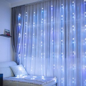 LED Waterfall Flowing Water Curtain Lights String Light Wedding Background Garden party Holiday Decor Props EU Plug DHF1345