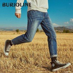 Burjoline erkek kot pantolon bahar streç slim-fit kot pantolon öğrenci rahat pantolon B92041