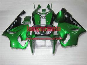 Kit de cares de carrocería FIT FOR TODOS GREEN KAWASAKI 1996 1997 1998 1999 2000 2001 2002 2003 NINJA ZX7R ZX750 96-03 Kits de cuerpo de la motocicleta