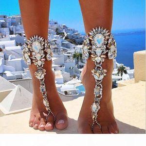 Fashion 2017 Ankle Bracelet Wedding Barefoot Sandals Beach Foot Jewelry Sexy Pie Leg Chain Female Boho Crystal Anklet 1pcs