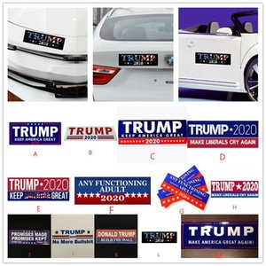 Multi Styles Donald Trump Car Stickers Bumper Sticker Keep Make America Great Decal For Car Styling Vehicle Paster EWE1196