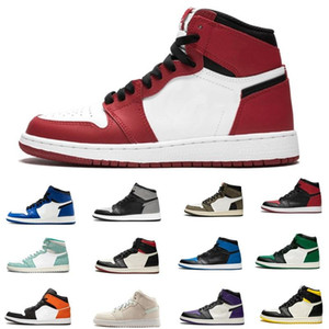 Top Quality 020 New ArrivalJumpman1 1s Mens Shoes sapatos preto metálico ouro Obsidian UNC Tie-Dye Mulheres Esporte