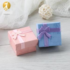 XZSGZ gioielli imballaggio cloud carta multi colore quadrato arco anello anello scatola gioielli borse box box scatola
