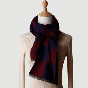 100% Wool Scarf Winter Scarf Men Women Unisex Checked Wool Shawl For Lady Thick Keep Warm Autumn Winter