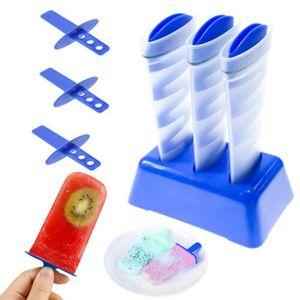 Mighty Freeze Criativo Ice Maker Ferramenta Espiral DIY Molde de Silicone Bucket Portátil Tubos de Sorvete Multifuncional Ice Pop Maker YL0249