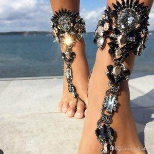Cgjxs Мода лодыжка браслет для Beach Vacation Творческих сандалий Sexy Leg цепь для женщин Кристалла ножного Foot ювелирных изделий