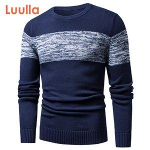 Luulla Outono Primavera New Casual Pattern malha de algodão blusas pulôver equipamento da forma O-pescoço Brasão homens 3xl Sweater