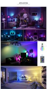 E27 E14 LED Bulb 5W 7W RGB 16 Color Changeable LED Lamp 110V 220V RGB LED Light Bulb Spotlight With IR Remote Control Home Decor