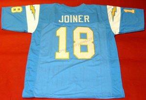Cheap Custom # 18 Charlie Joiner Tutti cucito calcio blu Jersey Uomo qualsiasi formato 2XS-3XL 4XL 5XL nome o il numero libero di trasporto superiore