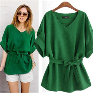 Clobee 2021 Summer Vintage Batwing Sleeve Blouses Cotton And Linen Women Pure Color Shirts Pullover Ladies Elegant Tops A104