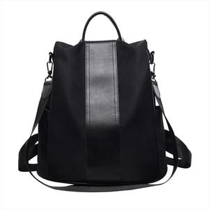 Anti Theft Backpack Women Shoulder School Bag For Teenage Girls Nylon Female Zipper Backpack Ladies Casual Book Bag High Quality