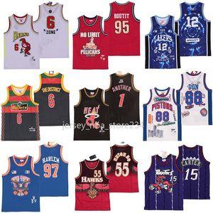 NCAA 88 Don Georgetown 12 TDE Pallottole Il distretto No Limit 95 Boutit 55 Mutombo 15 Carter Un altro 1 McGrady 97 Jerseys Pallacanestro Harlem