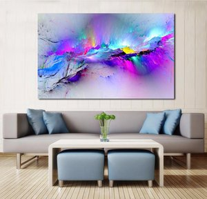Stanza dell'olio Casa Jqhyart Frame Variopinto Vivente Astratto per nessuna foto Decor Wall Canvas Art Clouds Painting Bbyom YH_pack