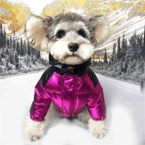 Tide Brand Down Jacket Brand Dogs Jackets Winter Thick Puppy Clothes Outdoor Street Style Teddy Schnauzer Pomeranian Pet Warm Clothing