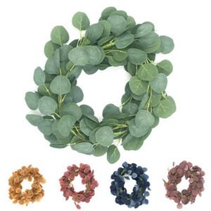 الزهور الزخرفية إكليلات اصطناعية النباتات الخضراء الأوكالبتوس الروطان وهمية اللبلاب اكليلا جدار ديكور العمودي حديقة الزفاف الديكور