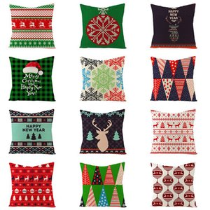 Christmas Decoration Pillow Green Style Cotton Pumpkin Trick or Treat Letter Throw Pillow Covers Sofa Cushion Cover Pillowcase 40 Colors