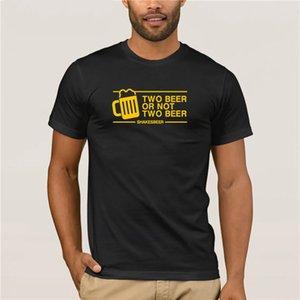 T-shirt per la stampa divertente da uomo hot Omnitee o non due T Shirt Birra uomo divertente casual manica corta in cotone
