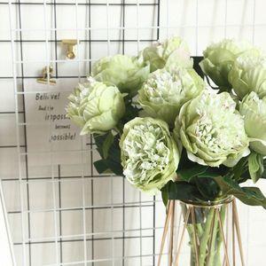 European Artificial Silk Dutch Peony Flower Home Hotel Table Decoration Fake Flower Wedding Scene Decoration Valentine'sDay Gift E5H2#