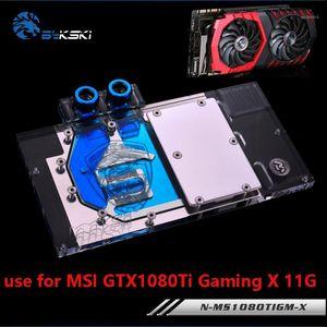 BYKSKI Water Block Verwendung für MSI GTX1080TI GAMING X 11G / Panzer 11G OC / Full Cover Graphics Card Kupfer Kühlerblock RGB Light1