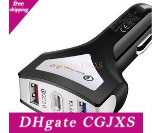 Fast Car Charger Qc 3 .0 Dual-Pd-Auto-Ladegerät Typ C Travel Power Adapter Ladegerät 2-Port-USB-Telefon Lade