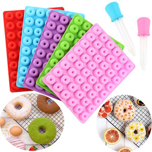 Silicone doughnut cake mold DIY Donut Maker 48 holes Non-Stick Baking Cookie Chocolate Mold Soft candy and hard candy mould FF573