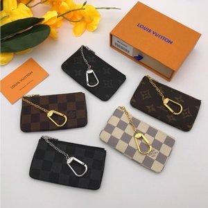가죽은 높은 품질의 유명한 고전 디자이너 여성 키 홀더 동전 지갑 작은 가죽 제품 bag18 보유LVLOUISVUITTON