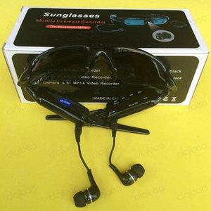 Multi-función MP3 Bluetooth Headset auriculares con micrófono gafas de sol de la cámara 1080P grabador de vídeo digital Mini cámara de los vidrios