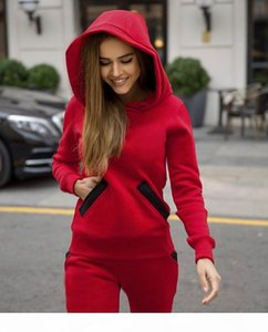 Designer Womens Tracksuits Autumn Long Sleeve Hooded Big Hat Ladies 2PCS Outfits Fashion Womens Two Pieces Sports Sets