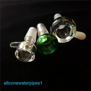 Thick Glass Bowls Screen 14 mm 18 mm Male Joint glass water bowls dry herb Catcher Holder bowls For Bongs Water Pipes